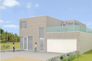 strakke architectuur in relatie met buitenruimte