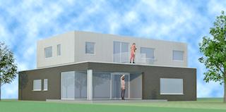 architect Boonen - minimalistische, hedendaagse woning Lommel