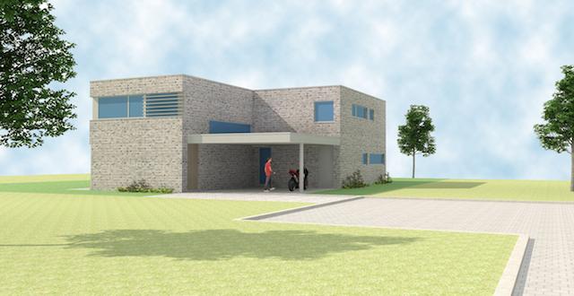 Compacte moderne woning te meerhout architect herman boonen te geel - Moderne uitbreiding huis ...